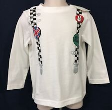 New/Tags 24 Month First Impressions Boy's White Long Sleeves Graphic T-Shirt