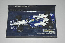 Minichamps F1 1/43 WILLIAMS BMW FW24 NICO ROSBERG TEST BARCELONA 2002 Ltd.Ed.