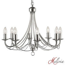 Searchlight 6348-8ss Maypole Satin Silver Classical 8 Light Chandelier