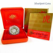 2010 Royal Australian Mint Silver Proof $1 Coin - Lunar year of tiger