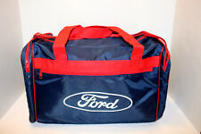 VINTAGE FORD  TRAVEL, GYM, DUFFEL BAG NAVY BLUE WITH RED TRIM