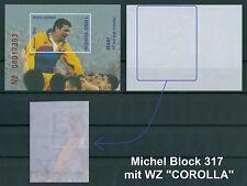 "Rumänien 2001 Mi.Block 317 mit WZ ""COROLLA"" ,Hagi,Fußball,Soccer,Calcio,Futbol"