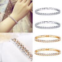 Fashion Charm Women Crystal Rhinestone Glitter Cuff Bracelet Bangle Jewelry Gift