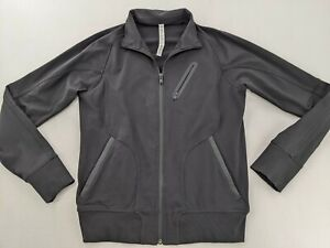 Lululemon Men's M Athletic Jacket Full Zip Running Gym Breathable Stretch Black