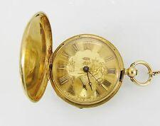 Breguet Gold Pocket Hunters Case Pocket Watch, Key Wind and Set.