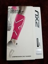 2XU Compression Calf Guards Hot Pink, XL, New