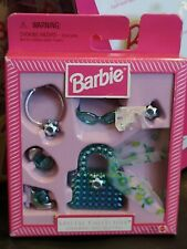 1998 Barbie Special Collection Jewelry Shoes Purse Scarf Blue Finishing Touches