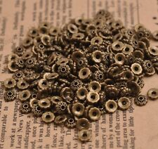 100PCS Flower Bead Caps Floral Spacer Beads 6MM Tibetan Bronze Alloy 3081