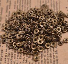 100PCS Flower Bead Caps Floral Spacer Beads 6MM Tibetan Bronze Alloy 3081