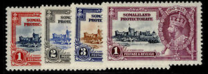 SOMALILAND PROTECTORATE GV SG86-89, SILVER JUBILEE set, M MINT. Cat £16.