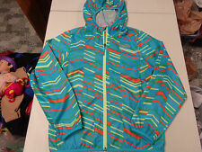 THE NORTH FACE GIRLS COAT  FUN PATTERN HOODED WIND JACKET  GIRLS  L  14  16   LN