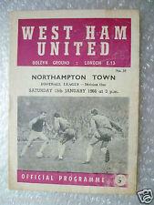 1966 WEST HAM UNITED v NORTHAMPTON TOWN (League Division One) 15 Jan