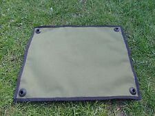Carp fishing reel splash mat ground sheet made from green cordura 500 x 400mm