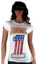 Strass H-D Classic Authentic Harley Davidson USA Numero One Vintage T-Shirt L 40