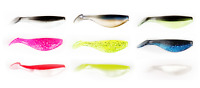 Xzone Crappie/Pan Fish Series Super Shad 2 inch Soft Plastic Paddle Tail 18pk