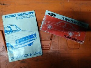 Ford Escort MK2 Popular - Owners Manuals X2
