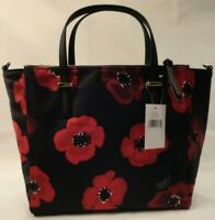 Kate Spade Red & Black Floral Purse Wilson Road Poppy Medium Satchel or Shoulder