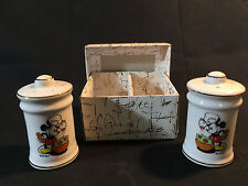 Disney Mickey Mouse Chef Hat Salt & Pepper Shakers Made In Japan With Box