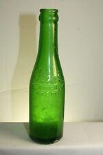 ANTIQUE FLINT ROCK PALE DRY SODA BOTTLE GREEN EMBOSSED