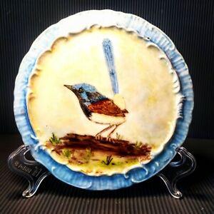 Fairywren Bird Original Ceramic Hand Painting By S. Wilson