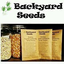 HEIRLOOM Vegetable & Herb Seeds Spring/ Summer, 15 Individual Packs