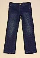 Koala Kids Girls Sz 4T Skinny Jeans Leopard Animal Print Blue Black Cute!