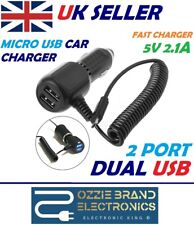 Dual USB In Car Charger Micro USB Fast Charging Cable To Fit HTC, Samsung Phones