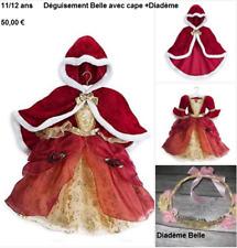 Costume déguisement fille fête carnaval DISNEY BELLE   12 ans