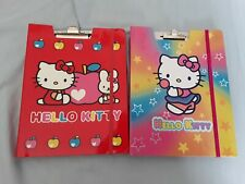 Hello Kitty, Sanrio stationary. 2 x Card clip cover with memo sheets and pencil