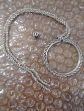 VTG Sterling Silver Necklace Coin Chain W Silver Dice