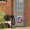 Aluminum Pet Door Gate Flap Telescoping Frame Secure Dog Entrance Extra Large