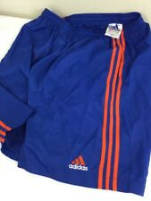 Vintage Adidas Shorts Running Athletic Windbreakers Unlined Men XL Nylon Blue