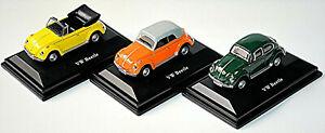VW Volkswagen Maggiolino 1302 Beetle 3er Set Berlina, Cabrio, Cabrio Closed 1:72