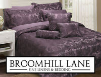 Brand New! Purple Damson Luxury Bedding Bedspread Set Duvet Curtains Cushions