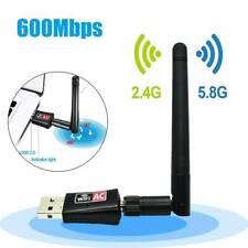 Wireless Wifi Range Extender Internet Signal Booster 600Mbps USB Adapter Antenna