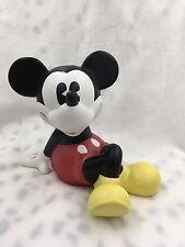 Retired Enesco Disney Mickey Mouse Kicking Back Ceramic Piggy Bank
