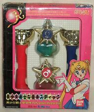 Sailor Moon R Mercury Mars Morpher Henshin Stick Rod Wand Red Blue Baidai 1996