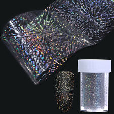 Holographic Fireworks Nail Foil Holo Manicure Nail Art Starry Sky Sticker Decor