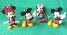 Mickey Mouse & Minnie Mouse figural keychain keyring lot Of 4