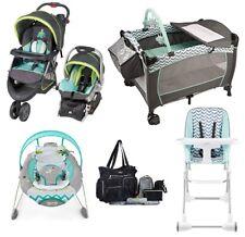 Baby Bundle Stroller Car Seat Playard Bouncer Bag Chair Jogger Travel System Set