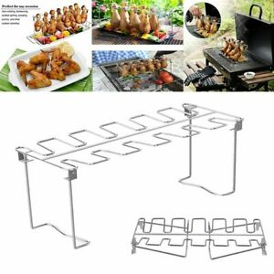 BBQ Rib Grill Holder Chicken Wing Leg Rack Barbecue Accessories BBQ Shelf