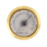 1.8 '' Messing Runde Rahmen Zeiger Hygrometer für Zigarren Humidor CR