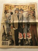 1981 SEC Sports Journal Original ALABAMA CRIMSON Tide Paul BEAR BRYANT #315 Wins