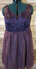 Women's Brand New Knee Length Formal Dress Purple NWOT Size - 18W ID-T2002