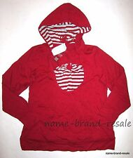 GITANO NWT Red Silver Striped Halter 2fer Hooded Top Shirt Womens Plus 14 16 1X