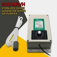 Sterilized Ozone Generator 2000mg/h Water Air Purifier Food Fruit Purification
