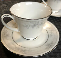 NORITAKE Legendary China SWEET LEILANI - Set of  4 CUPS & SAUCERS