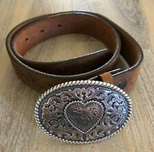 Cm-B2 Justin Children's Brown Leather belt size 26 with buckle