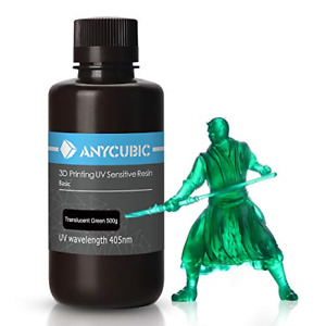 ANYCUBIC GREEN TRANSPARENT 500 ML Resina LCD UV 405nm Rapid Fotopolimero 3D