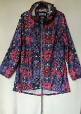 PRIMARK SIZE MEDIUM COLOURFUL HOODED PARKA IN A POCKET PAC A MAC VGC FREE P&P